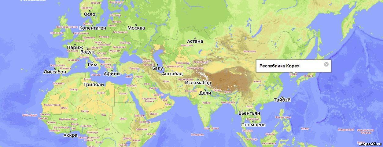 Сеонгван южная корея карта
