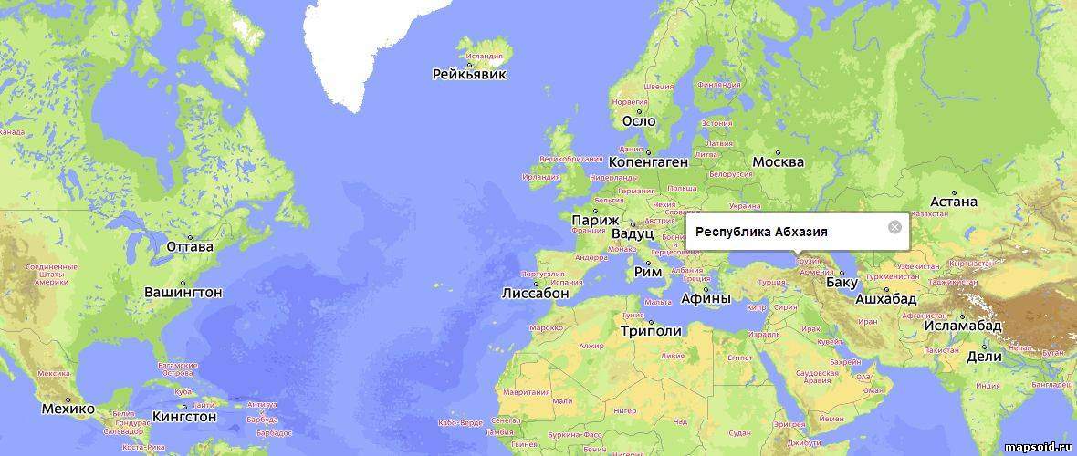 Карта Абхазии подробная | Инфокарт – все карты сети
