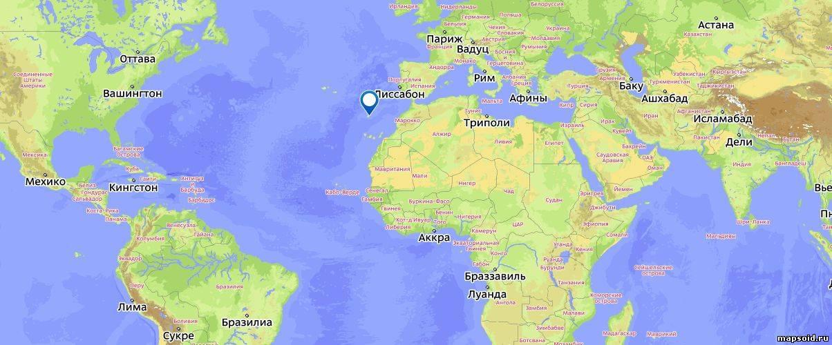 Мадейра на карте португалии
