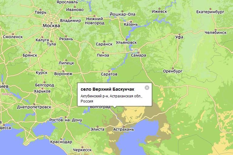 В этой части Астраханской