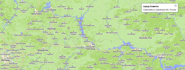 расположен город Советск.