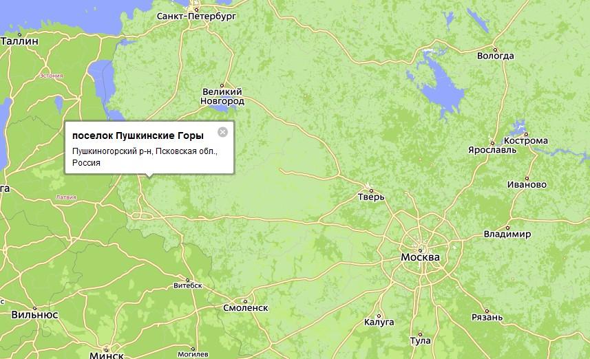 Пушкинские Горы относится к
