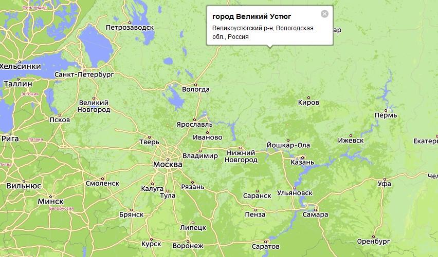 в 450 км от Вологды,