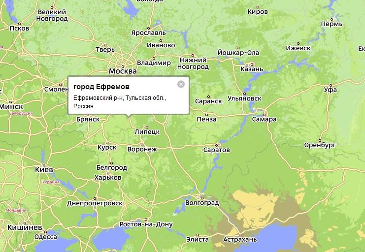 Административным центром Ефремовского района Тульской области является город Ефремов. .  Не так давно близ лежащие...