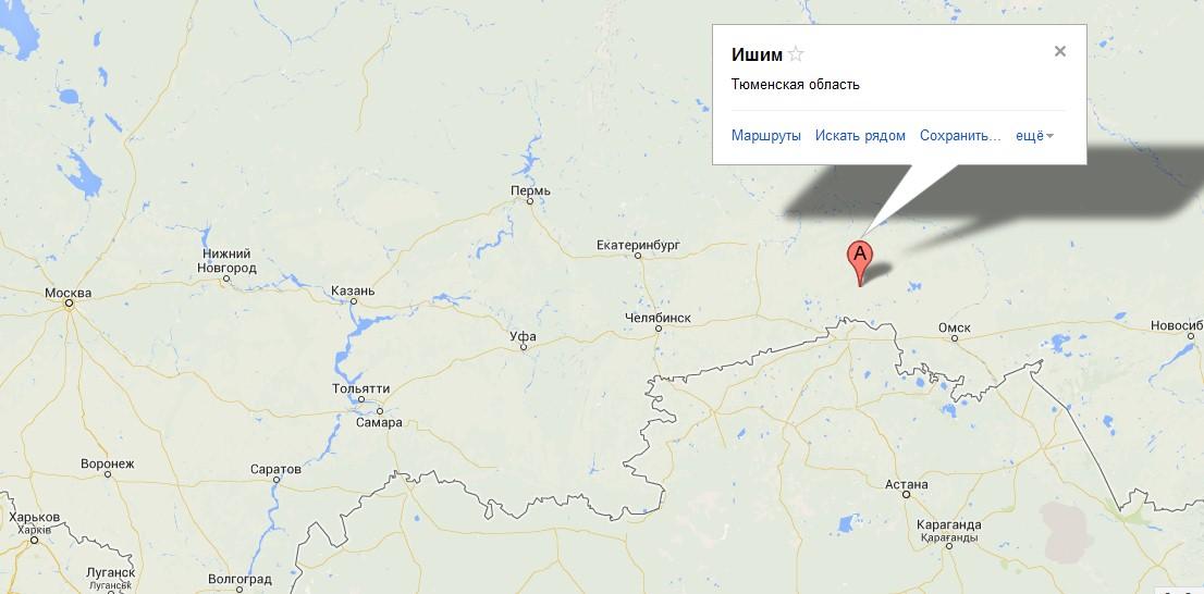 Карта схема города ишим