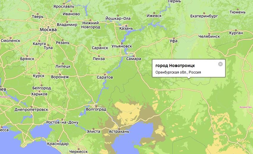 Карта Новотроицка С Улицами