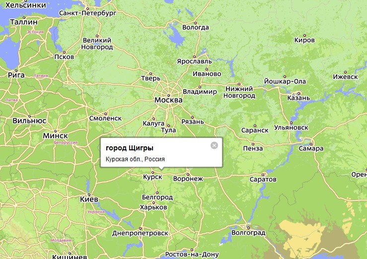 Одним из городов в Курской