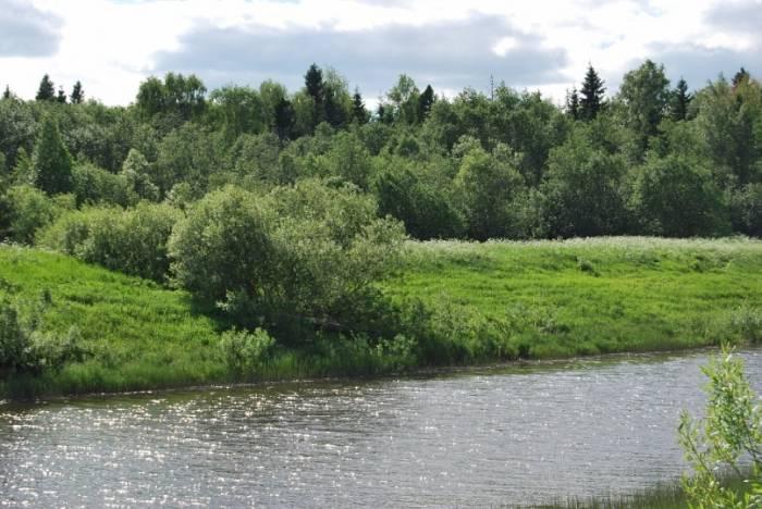 лежа река рыбалка