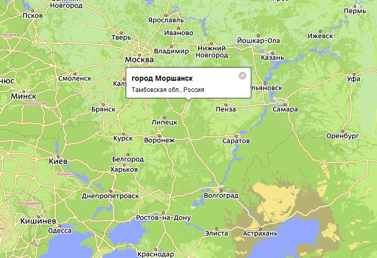 Город Моршанск является