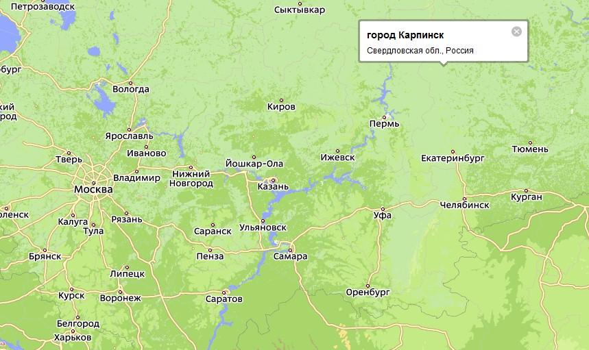 в Свердловской области