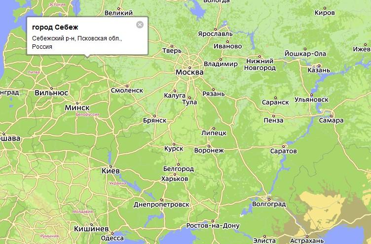 в Псковской области и