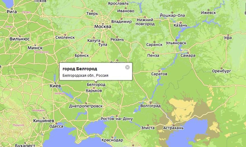 Карта Белгорода с улицами на