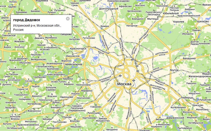 Город Дедовск является центром