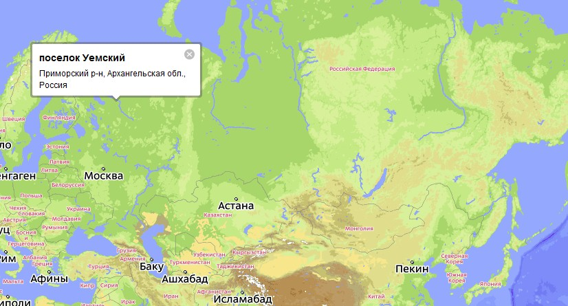 реки Северная Двина,