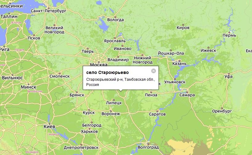 северной части Тамбовской