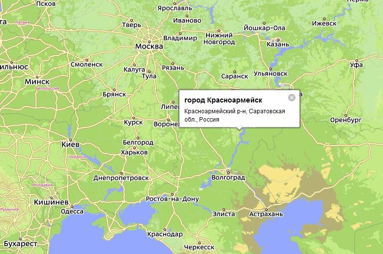 Карта Ртищево С Улицами