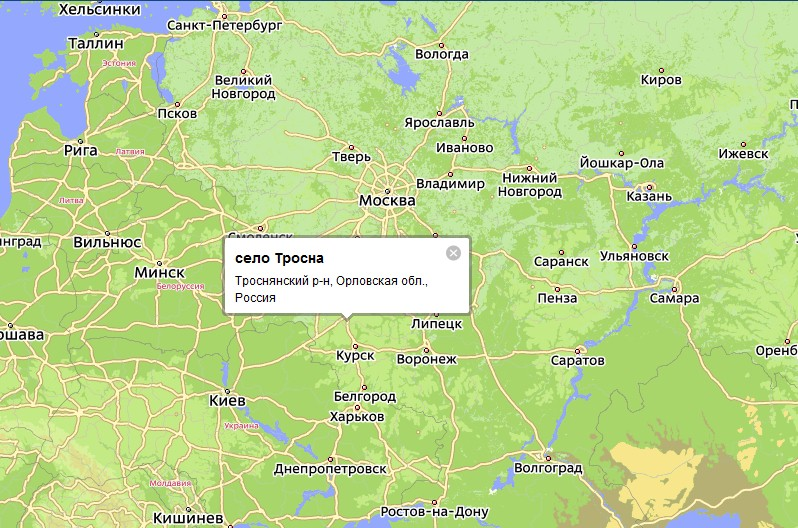 Орел - Тихорецк расстояние между городами на машине