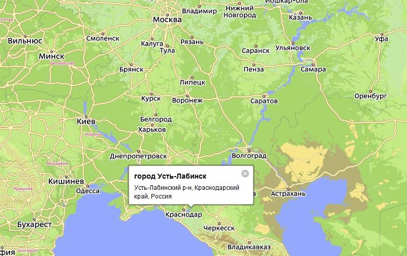 Карта Города Усть-Лабинска С Улицами
