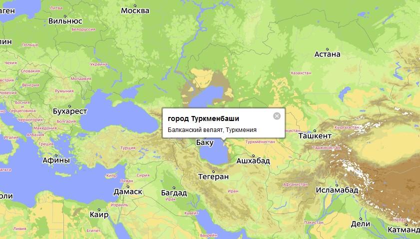В западной части Туркмении,