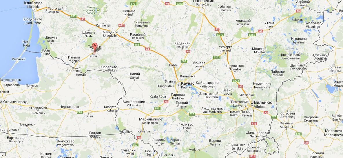 Таураге – город в Литве,