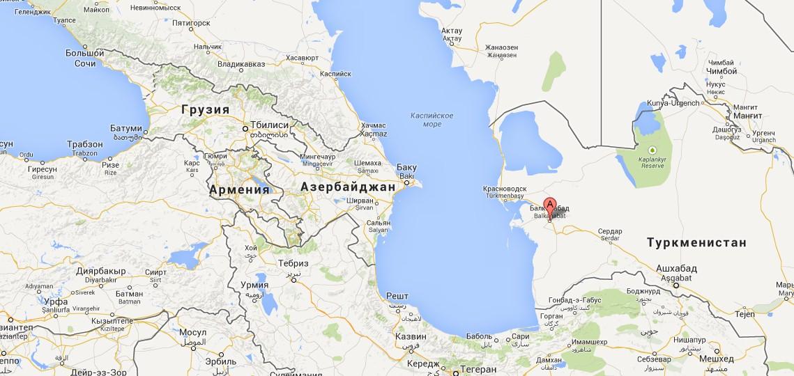 На западе Туркмении, в южном