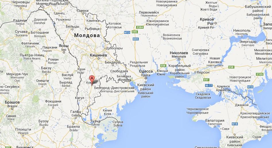Карта Города Кагул
