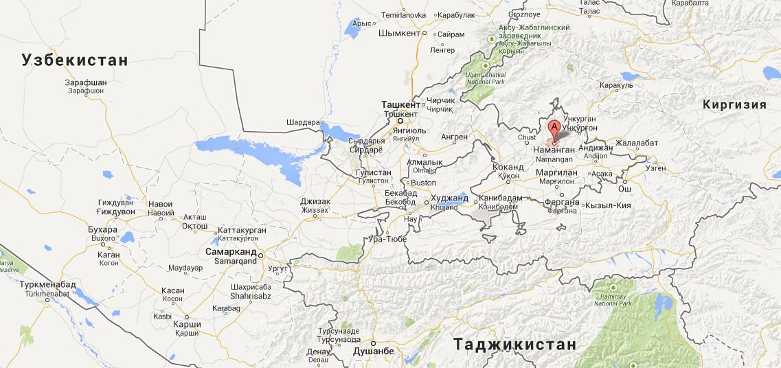 в 430 км от Ташкента.