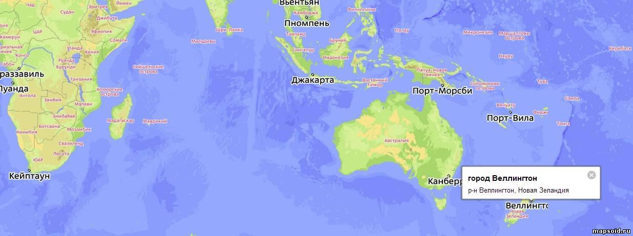 Новая зеландия где она находится