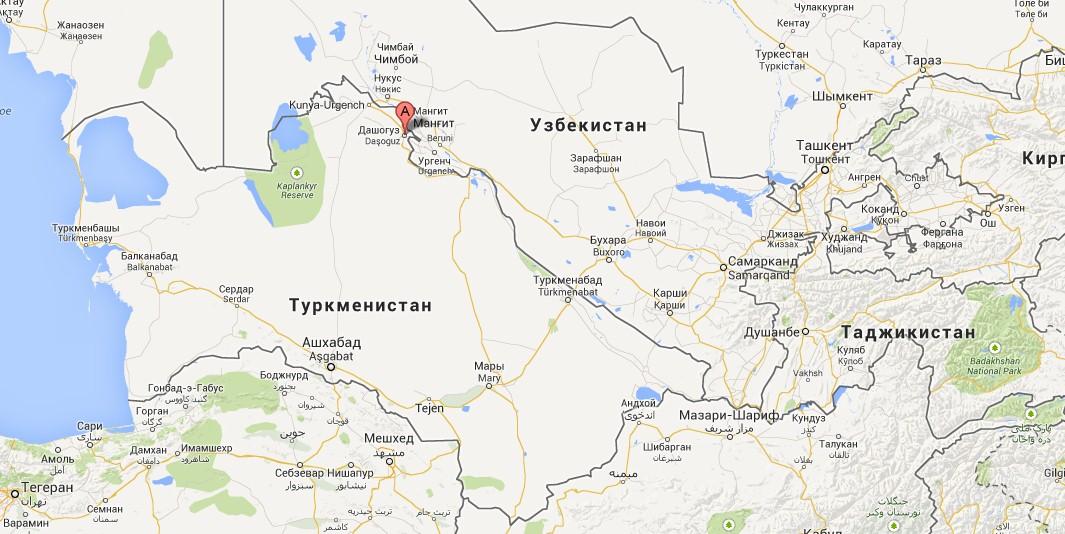 Туркменистана. Населенный