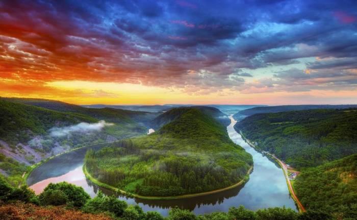 Река Саар. Германия