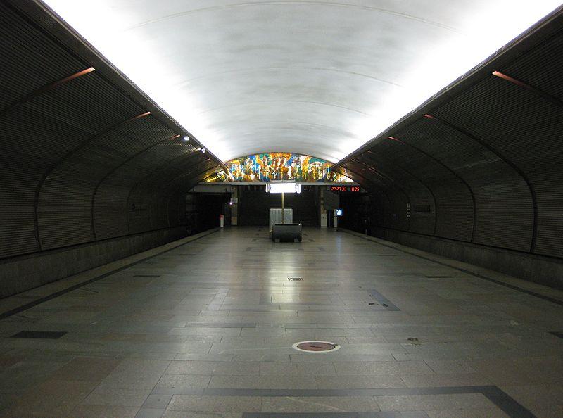 (на схеме метро I линия