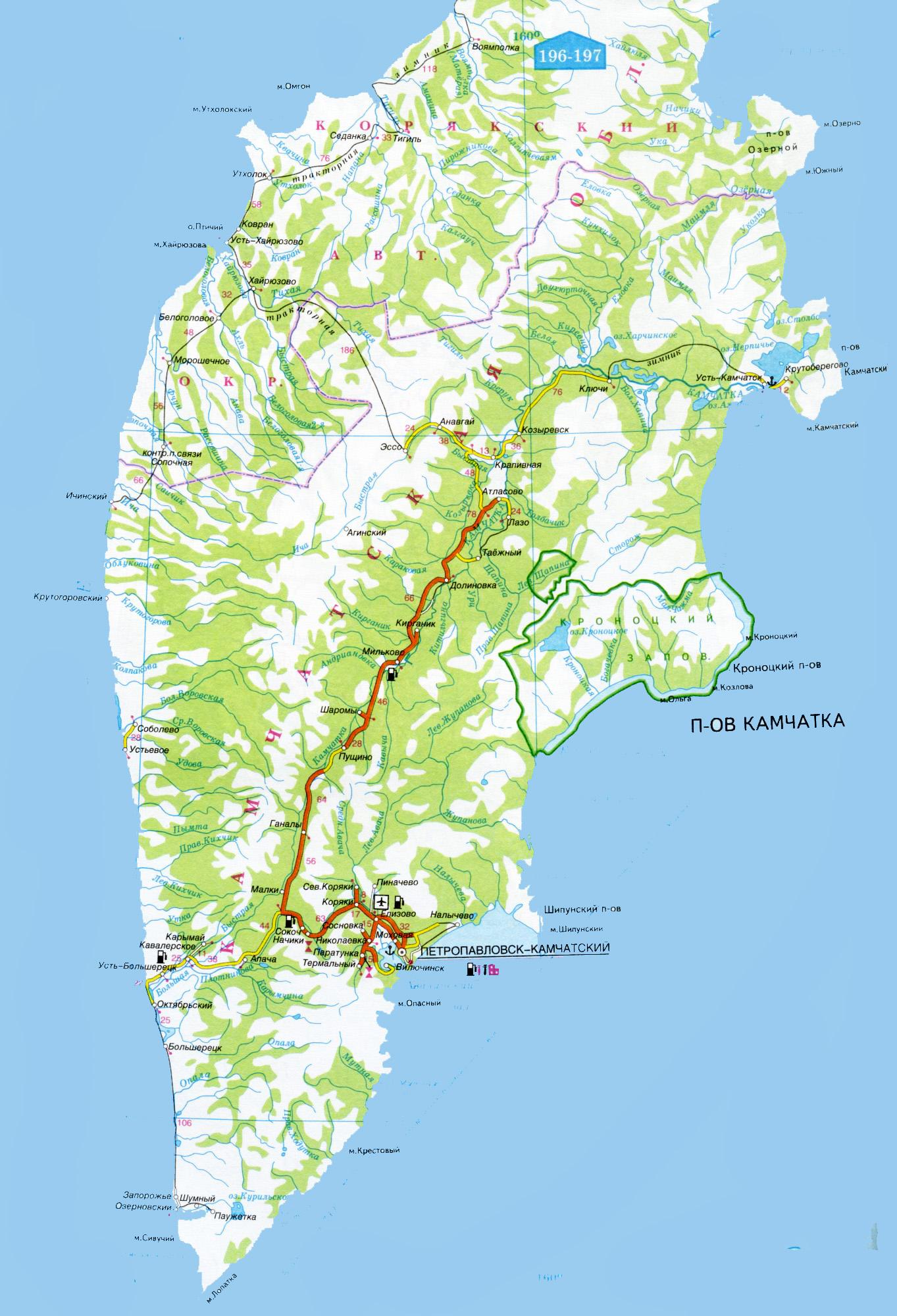 Камчатка картинки карта