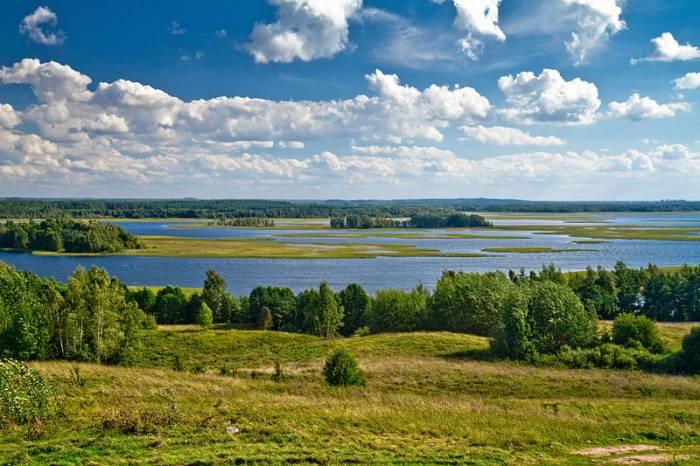 Озера Белоруссии на карте