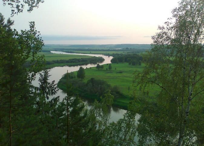 Реки Пермского края на карте