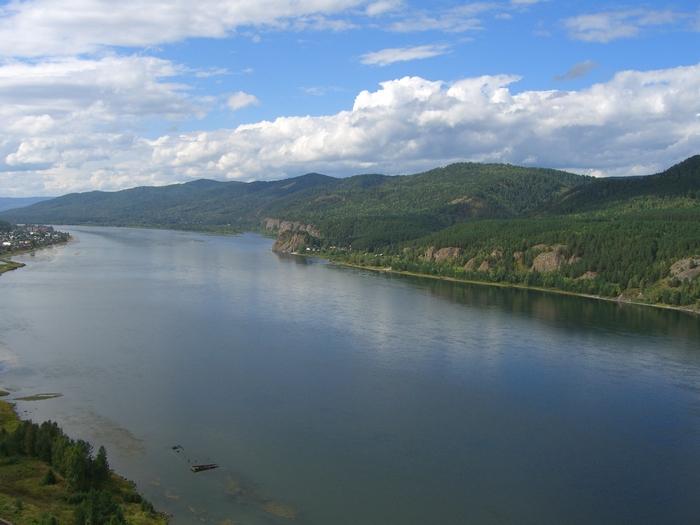 Река Енисей на карте