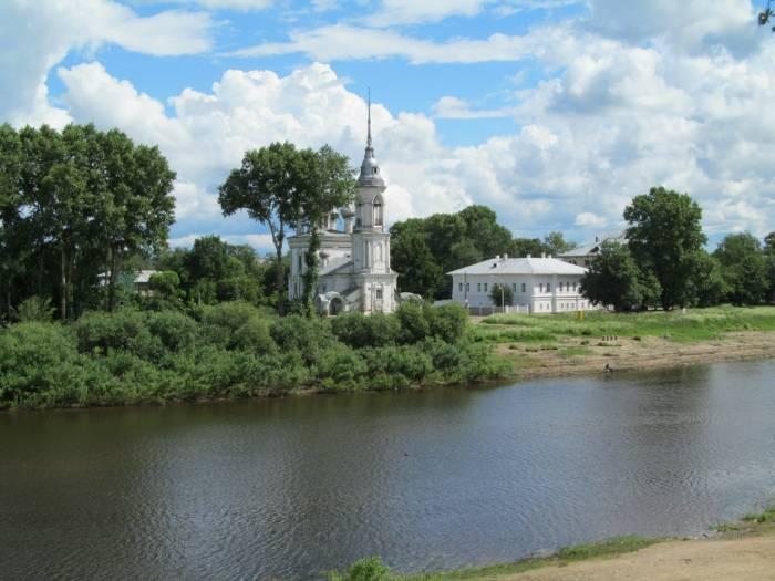 Река Вологда на карте