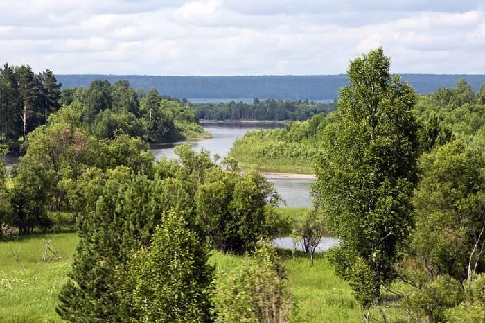 Река Бирюса на карте