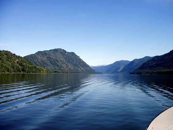 Озеро Телецкое на карте