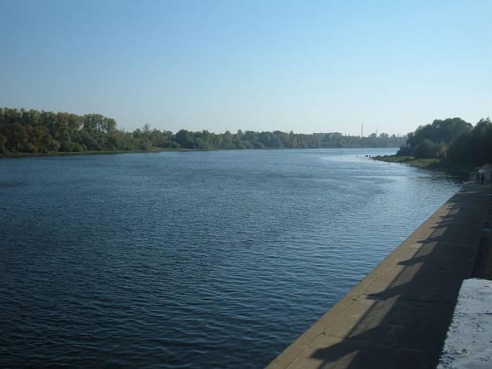 Река Сож на карте