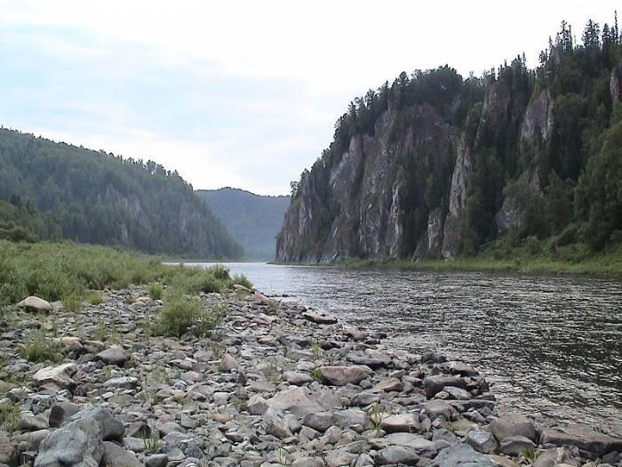Река Кия на карте