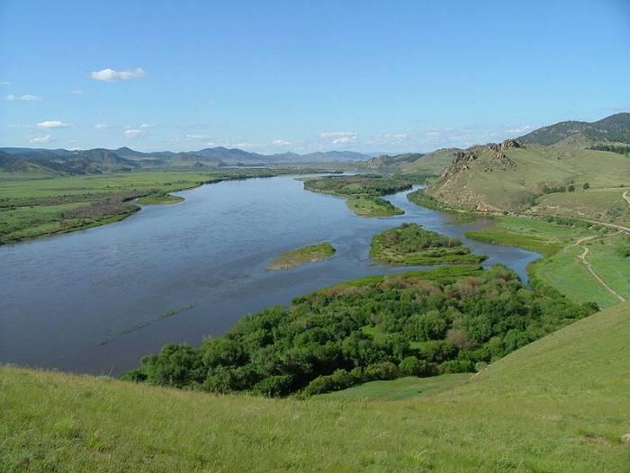 Река Селенга на карте