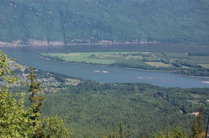 Река Мама на карте