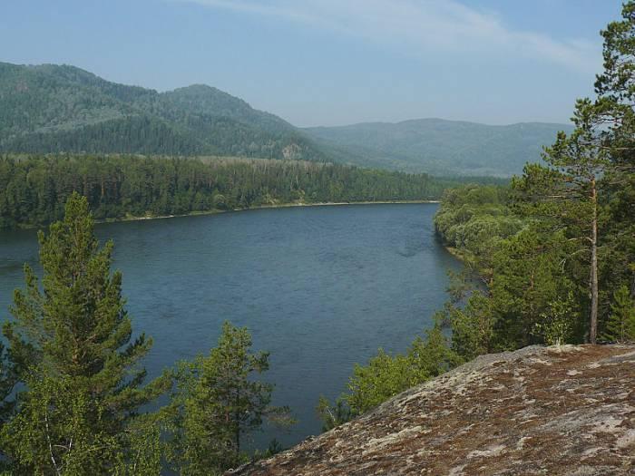 Река Бия на карте