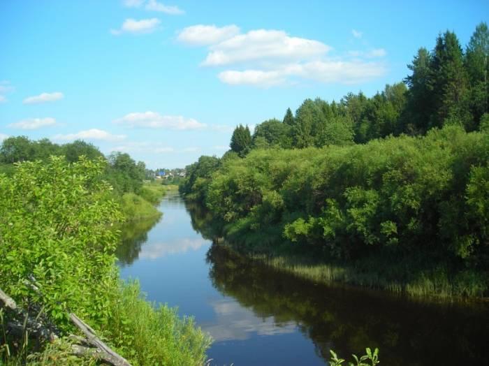 Река Межа на карте