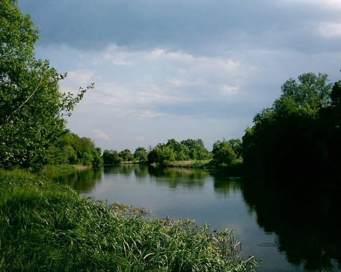 Река Рось на карте