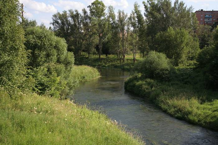 Река Воря на карте