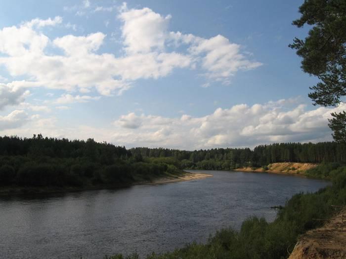 Река Ветлуга на карте