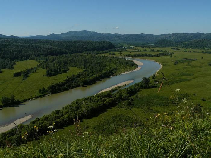 Река Лебедь на карте