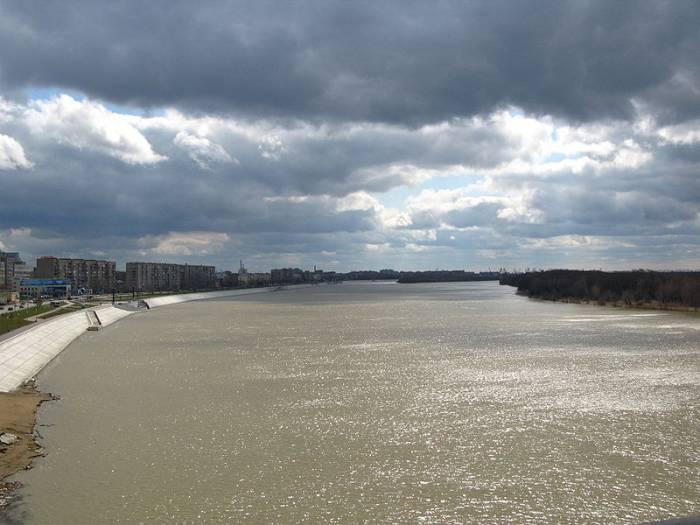 Река Иртыш на карте