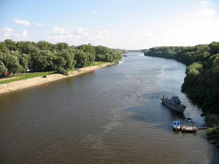 Река Десна на карте